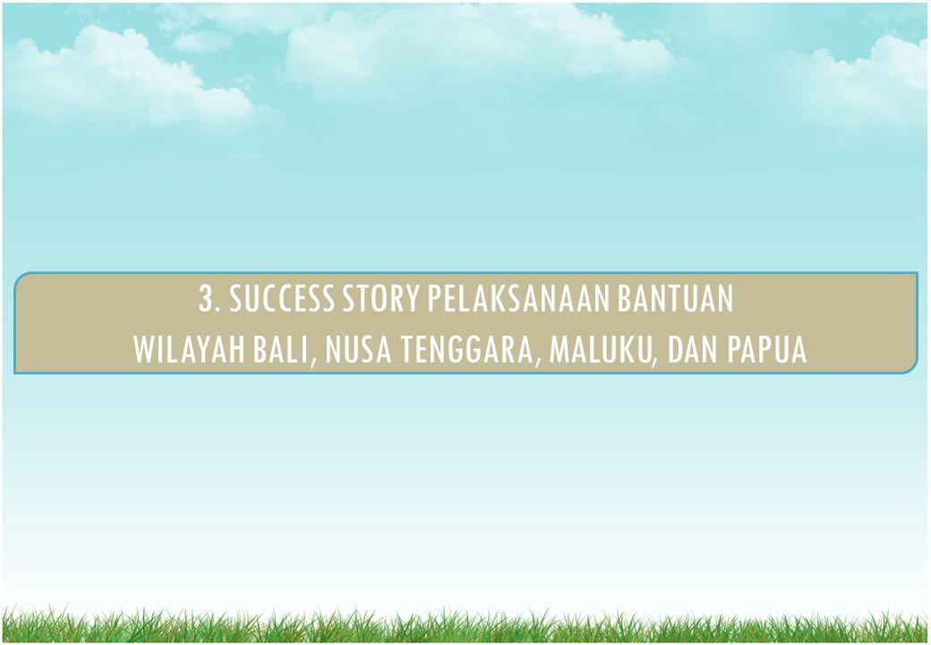 3. SUCCESS STORY PELAKSANAAN BANTUAN WILAYAH BALI, NUSA TENGGARA, MALUKU, DAN PAPUA