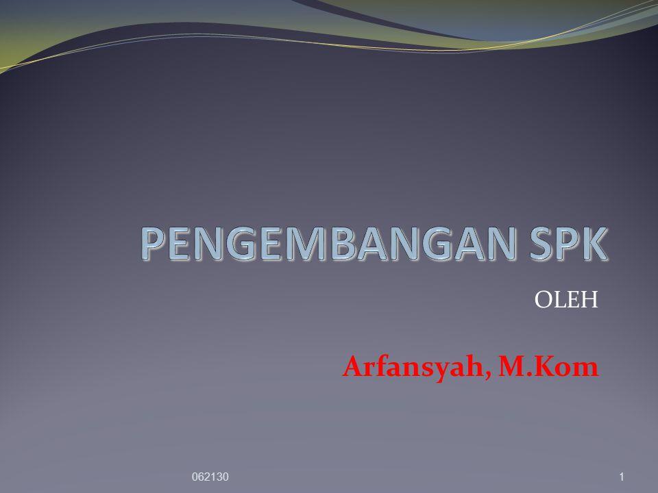 OLEH Arfansyah, M.Kom 0621301