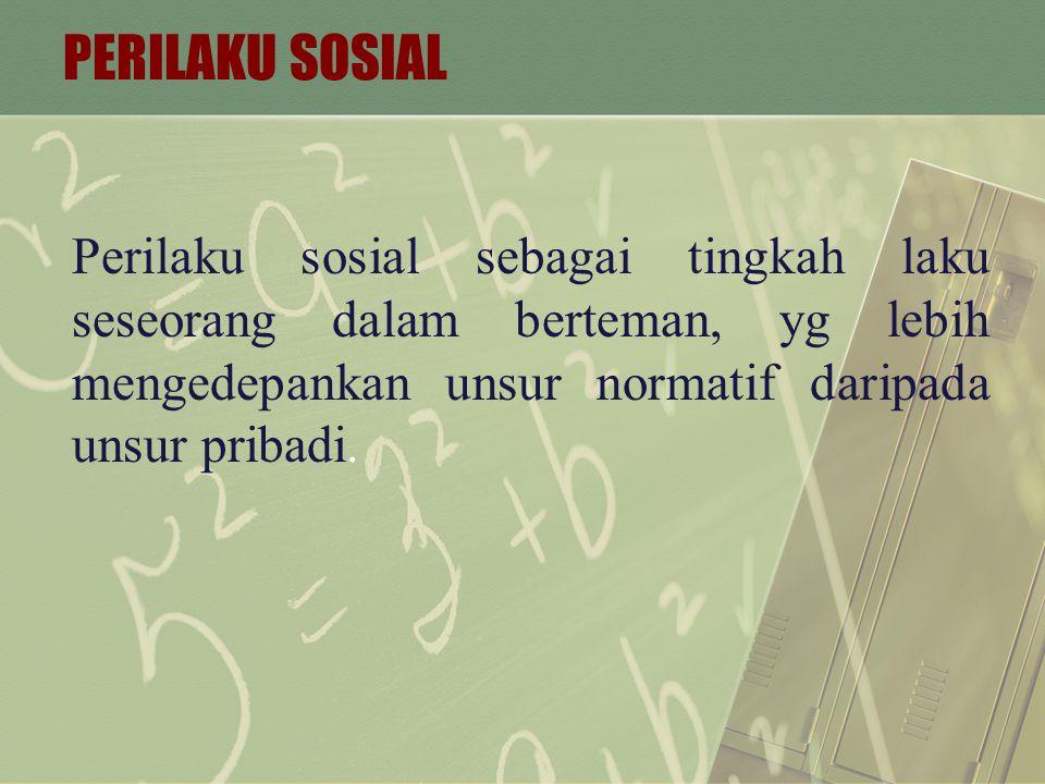 TINDAKAN SOSIAL Tindakan Sosial adalah tindakan individu yang mempunyai arti subjektif bagi dirinya dan diarahkan pada tindakan orang lain.