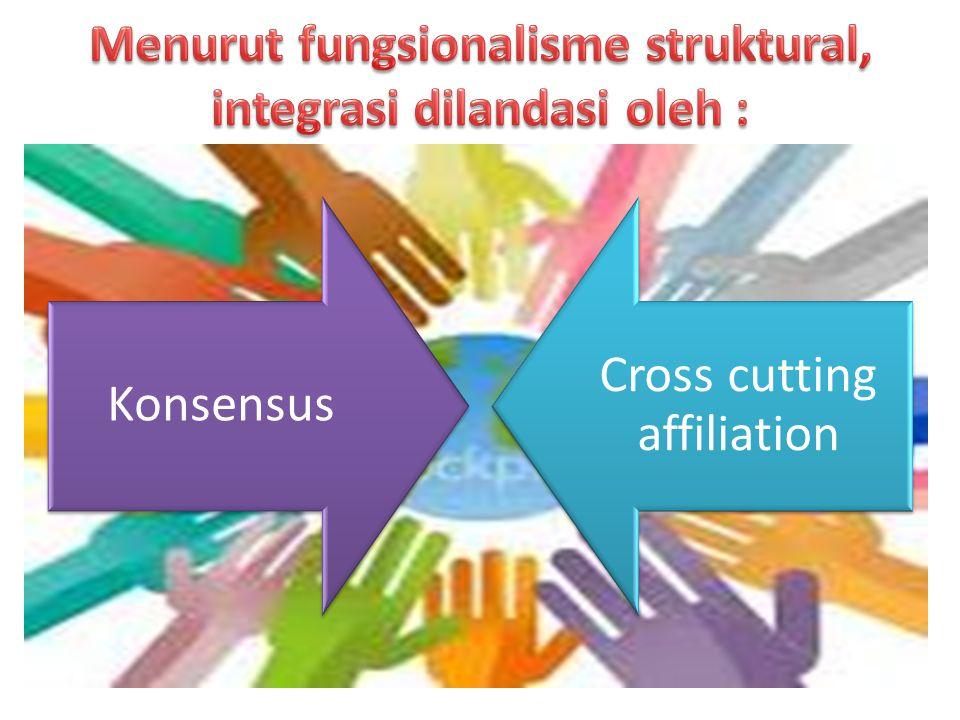 Konsensus Cross cutting affiliation