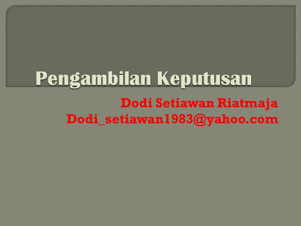 Dodi Setiawan Riatmaja Dodi_setiawan1983@yahoo.com