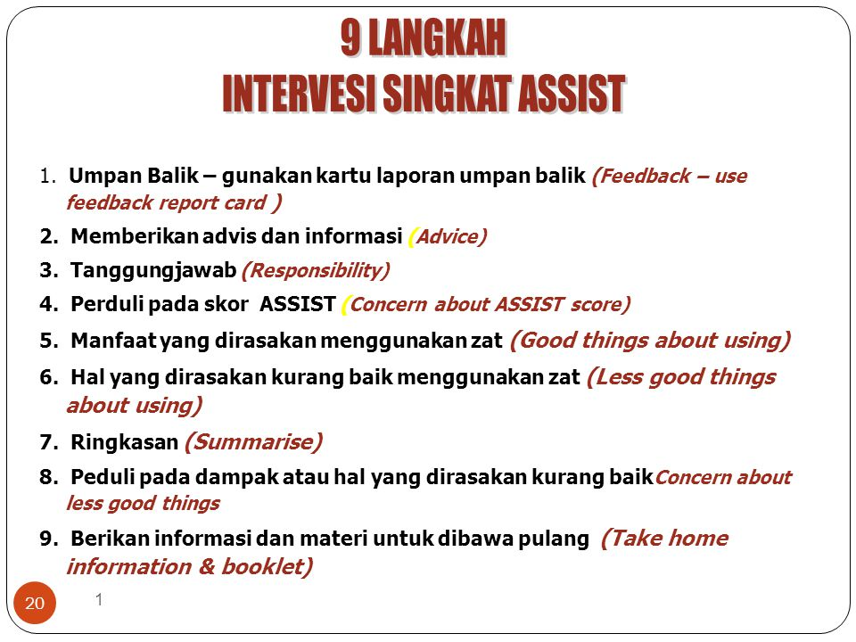 1 20 1.Umpan Balik – gunakan kartu laporan umpan balik ( Feedback – use feedback report card ) 2.