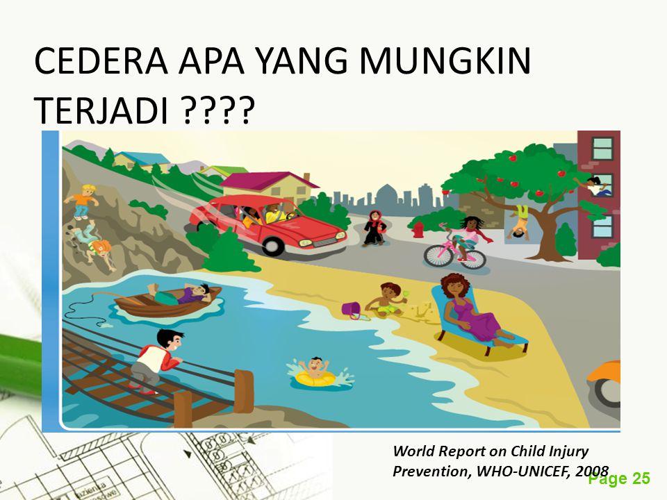 Page 25 CEDERA APA YANG MUNGKIN TERJADI ???? World Report on Child Injury Prevention, WHO-UNICEF, 2008