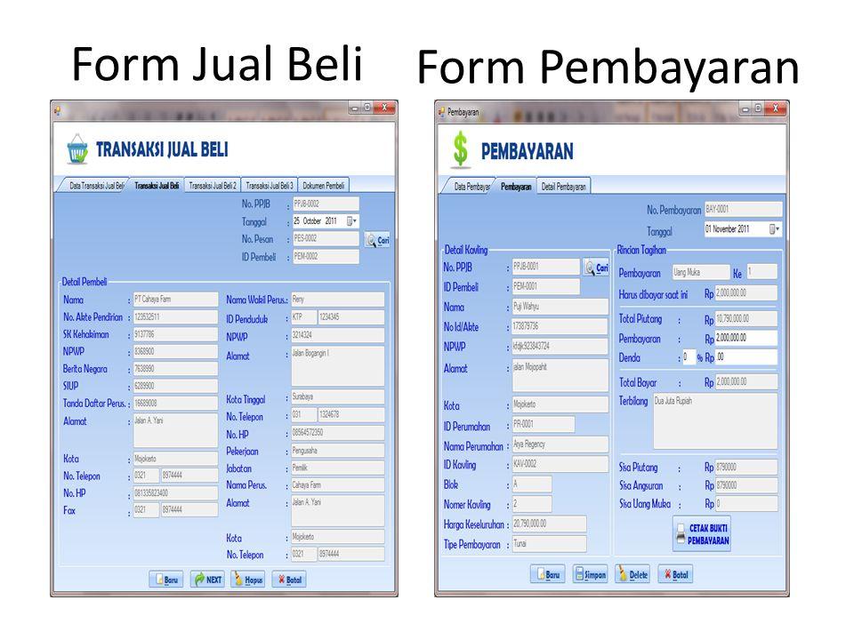 Form Jual Beli Form Pembayaran
