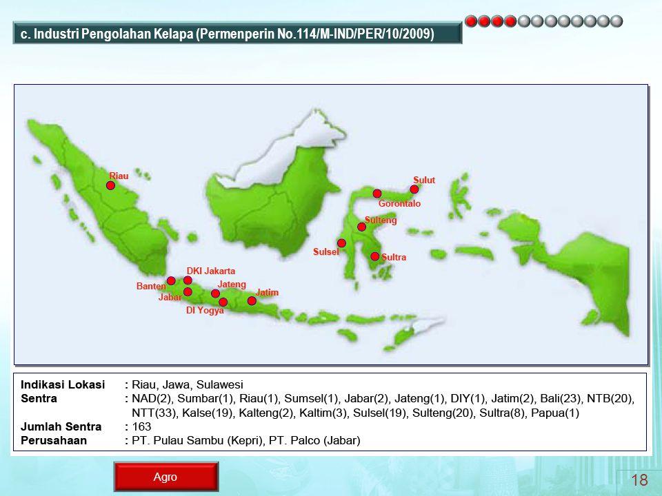 Agro c. Industri Pengolahan Kelapa (Permenperin No.114/M-IND/PER/10/2009) 18