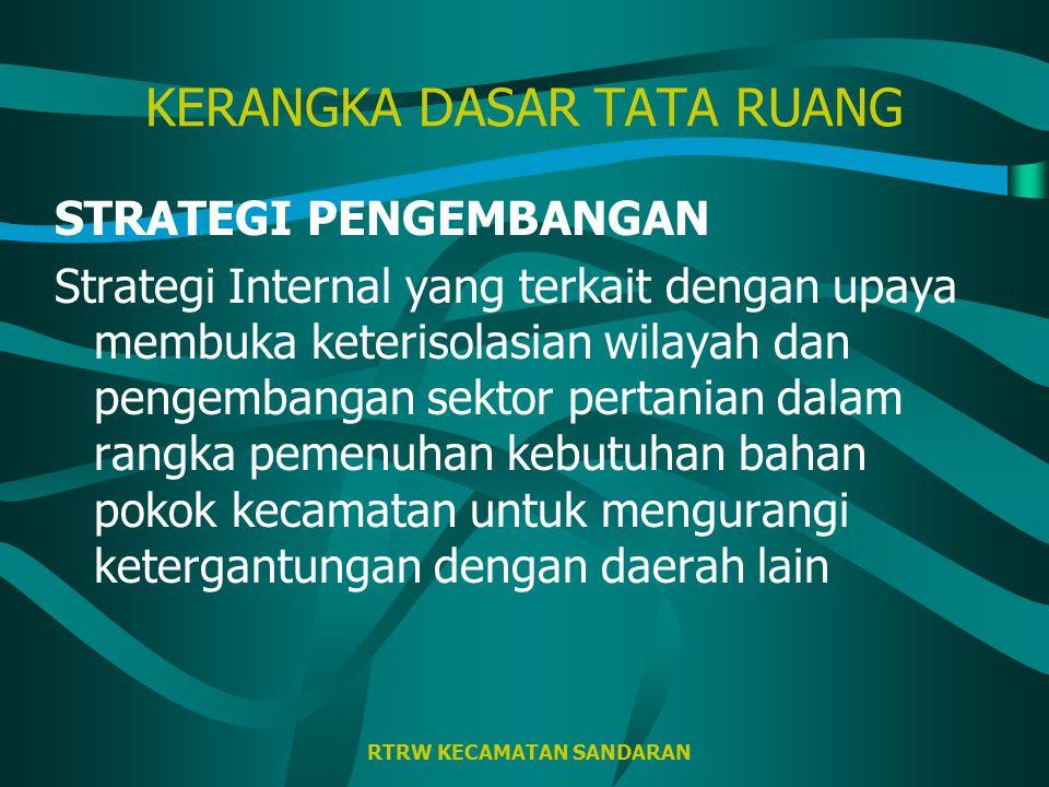 RTRW KECAMATAN SANDARAN KERANGKA DASAR TATA RUANG KONSEP PENGEMBANGAN 3 Tanjung