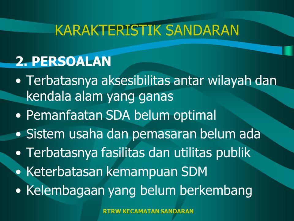 RTRW KECAMATAN SANDARAN KARAKTERISTIK SANDARAN 2.