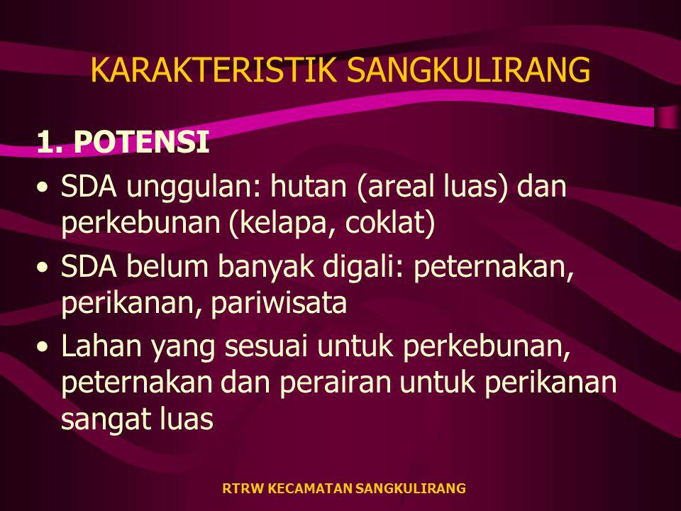 RTRW KECAMATAN SANGKULIRANG KARAKTERISTIK SANGKULIRANG 1.