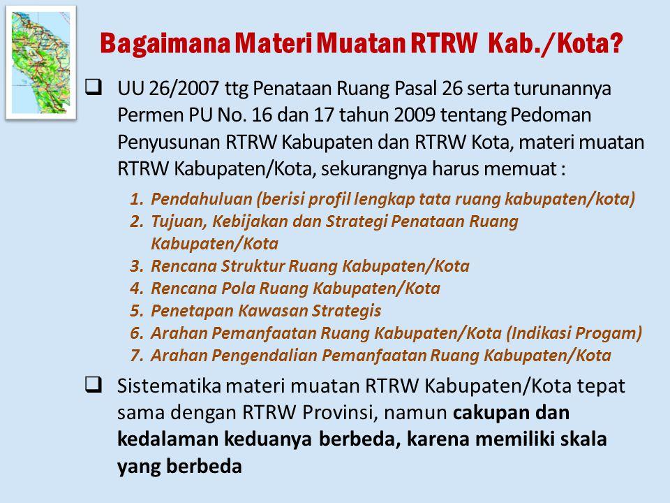 Bagaimana Materi Muatan RTRW Kab./Kota.