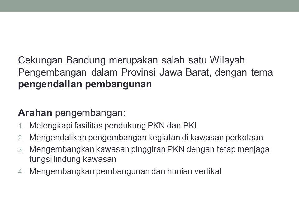 Cekungan Bandung merupakan salah satu Wilayah Pengembangan dalam Provinsi Jawa Barat, dengan tema pengendalian pembangunan Arahan pengembangan: 1. Mel