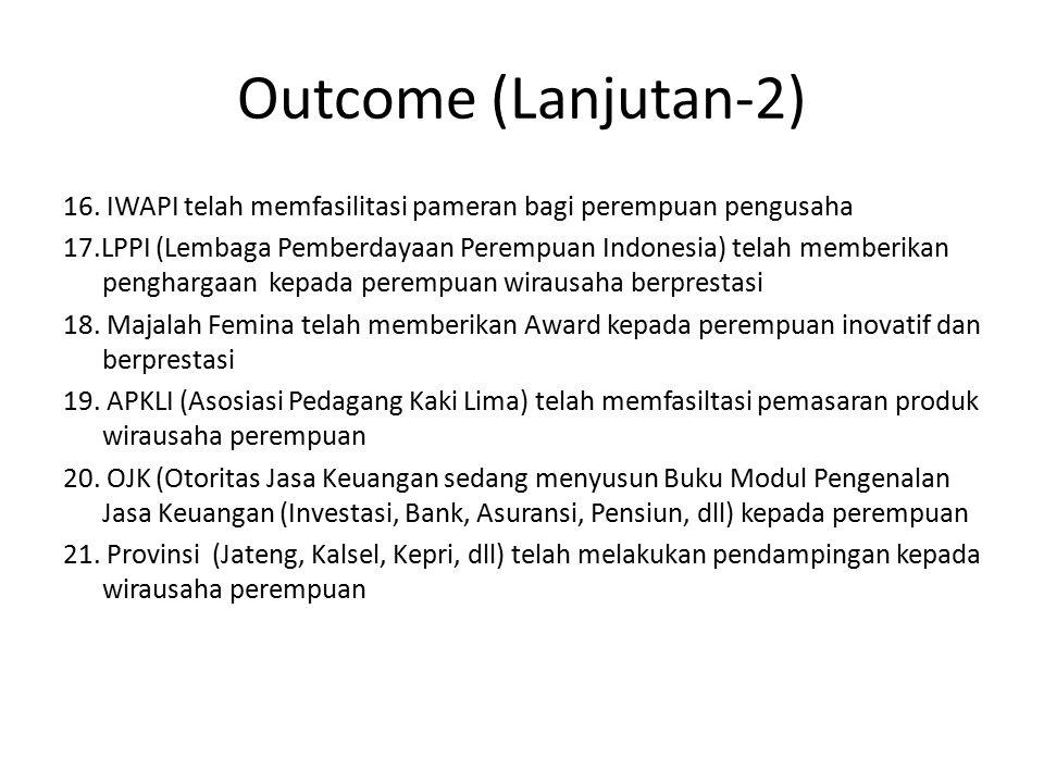 Outcome (Lanjutan-2) 16.