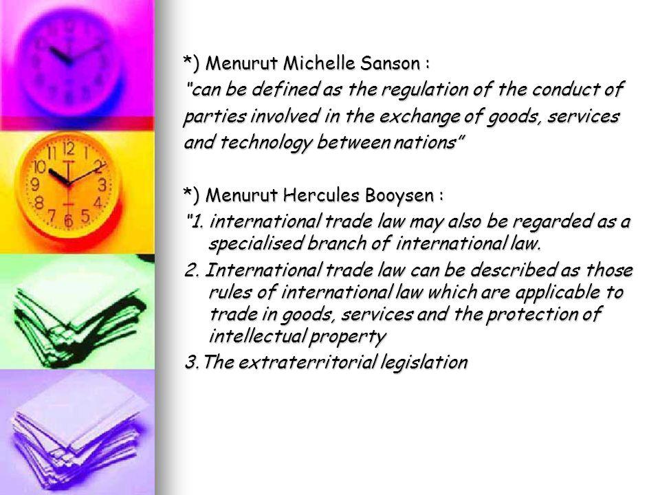 Prinsip-prinsip dasar hukum dagang internasional 1.