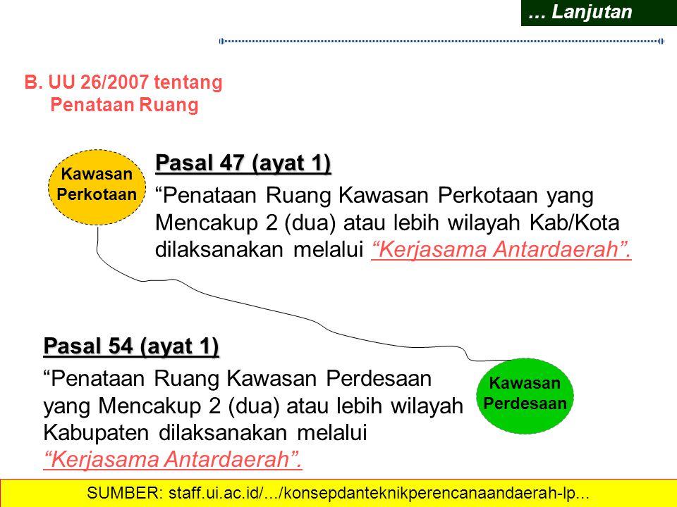 Pasal 196 1)U rusan pemerintahan yang mengakibatkan dampak LINTAS DAERAH dikelola bersama oleh daerah terkait. WAJIB 2)Untuk EFISIENSI PELAYANAN PUBLI