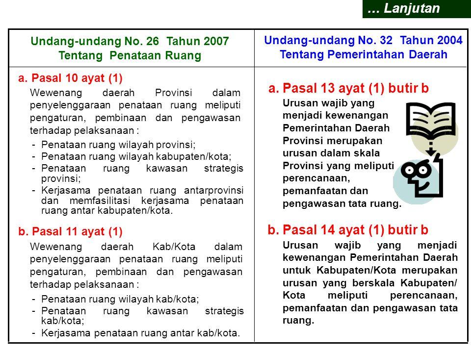 UNDANG-UNDANG 32/2004 Tentang Pemerintahan Daerah  Penjelasan Umum :  Pasal 13 Ayat (1) butir b;  Pasal 14 Ayat (1) butir b;  Pasal 185;  Pasal 1