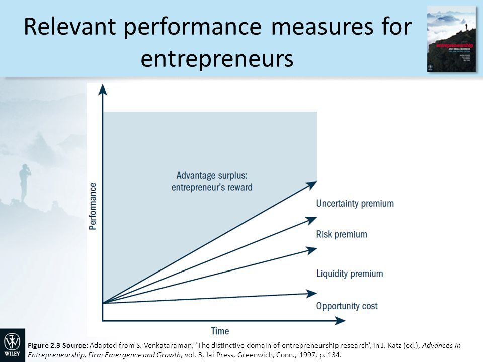 Relevant performance measures for entrepreneurs Figure 2.3 Source: Adapted from S.