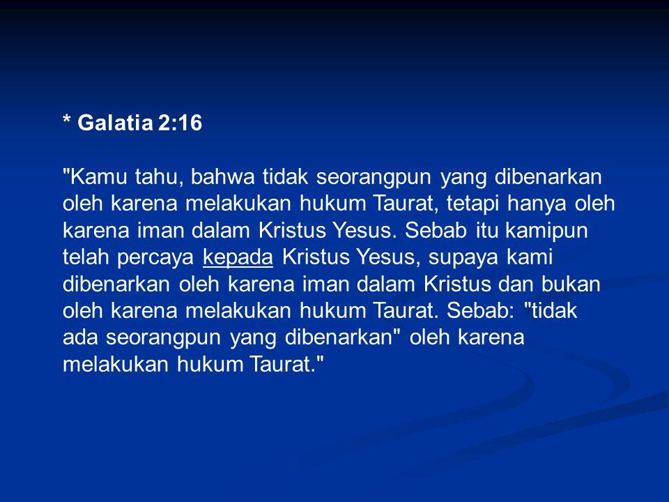 * Galatia 2:16