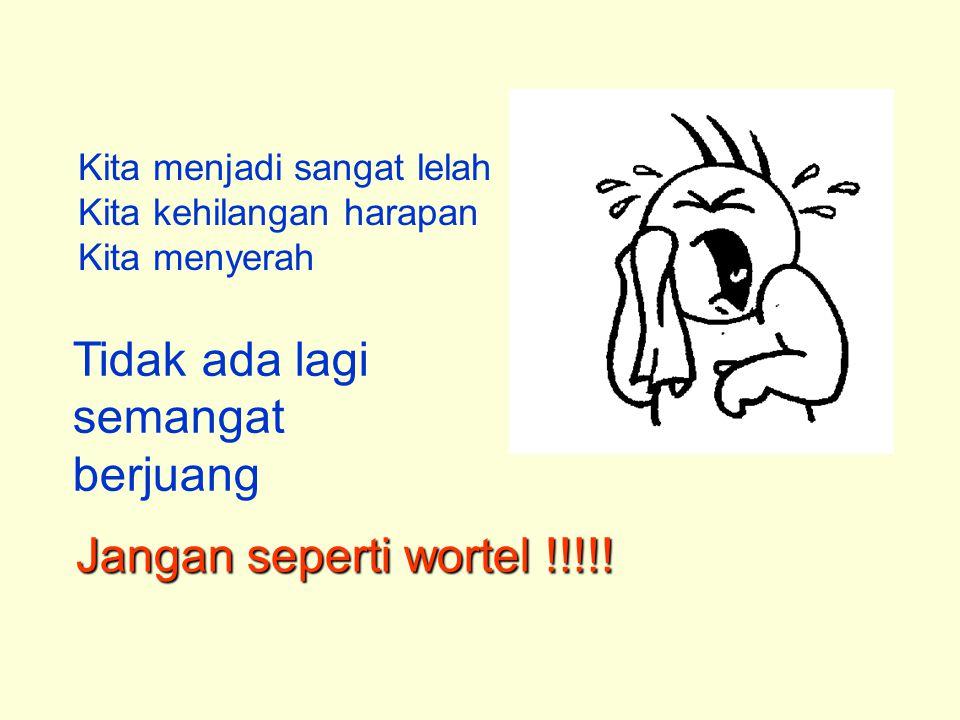 Kita menjadi sangat lelah Kita kehilangan harapan Kita menyerah Tidak ada lagi semangat berjuang Jangan seperti wortel !!!!!