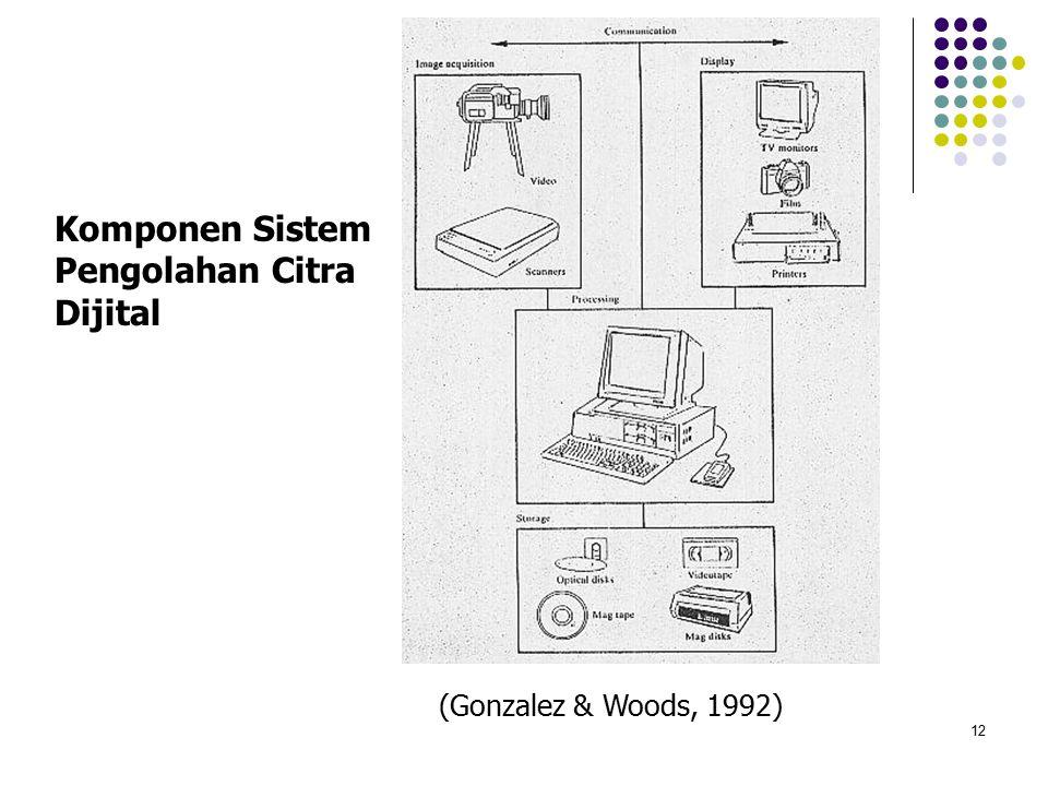 12 Komponen Sistem Pengolahan Citra Dijital (Gonzalez & Woods, 1992)