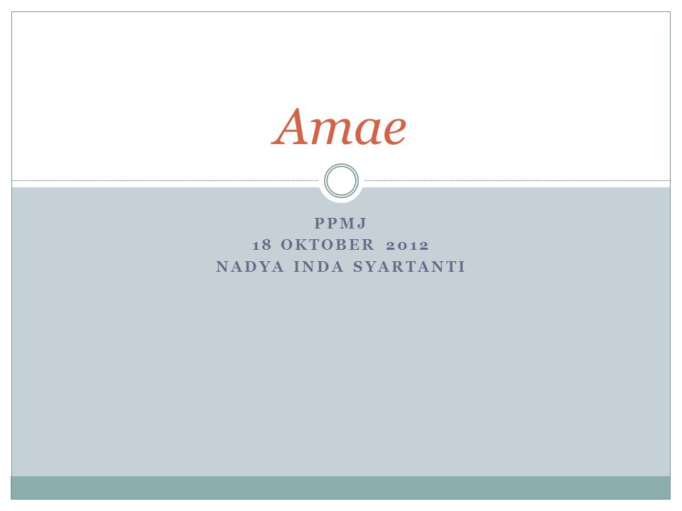 Amae's description There is amae everywhere in the world, but it is interesting that in the Japanese language there is a concrete word to describe it, there is even a verb amaeru that means depend on the benevolence of others .