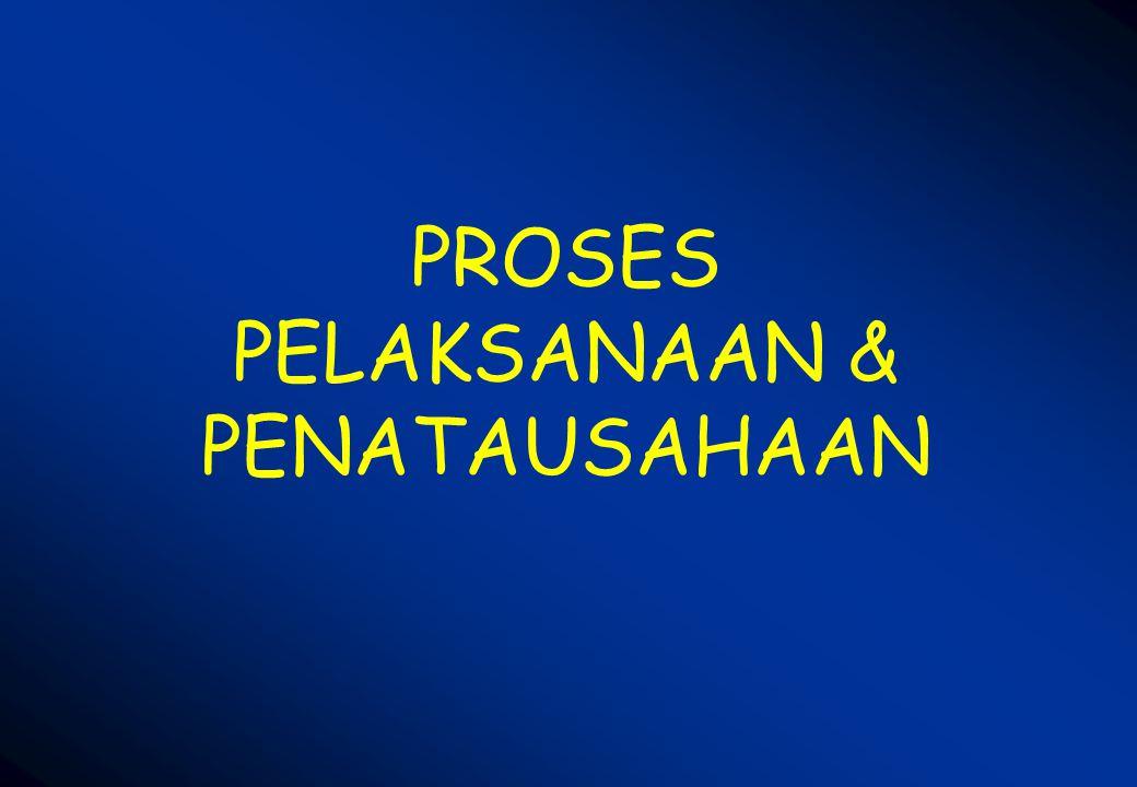 PROSES PELAKSANAAN & PENATAUSAHAAN