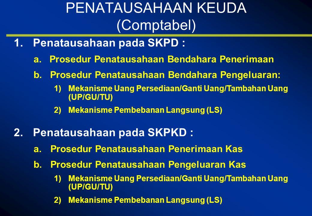 PENATAUSAHAAN KEUDA (Comptabel)  Penatausahaan pada SKPD : a.