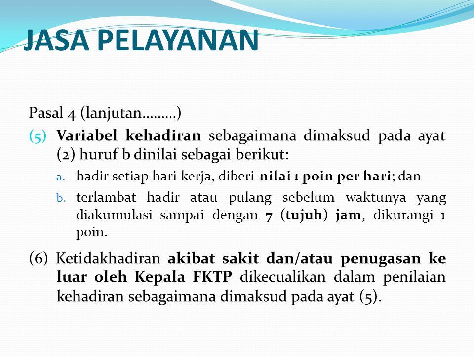 BIAYA OPERASIONAL Pasal 5 (1) Alokasi Dana Kapitasi untuk dukungan biaya operasional pelayanan kesehatan sebagaimana dimaksud dalam Pasal 3 ayat (3) dimanfaatkan untuk: a.
