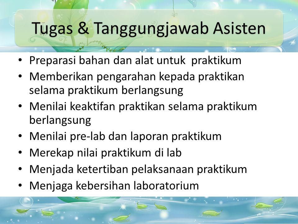 Penanggung Jawab Koordinator Asisten Prak.
