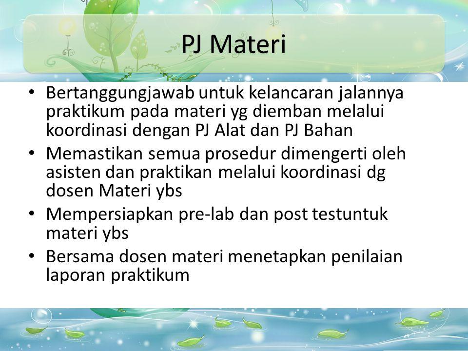 Materi Praktikum Materi Praktek ada 10 materi Harus dimasukkan dalam 21 pertemuan