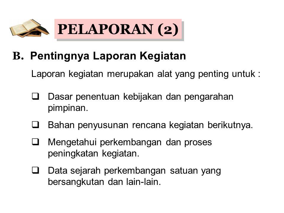 PELAPORAN (2) B.