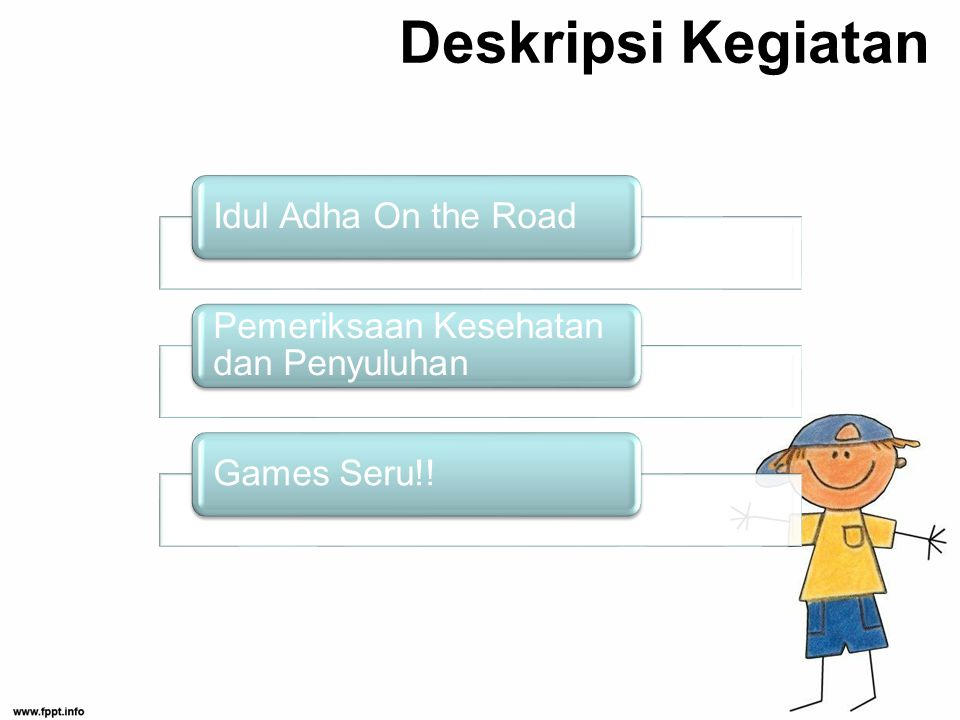 Deskripsi Kegiatan Idul Adha On the Road Pemeriksaan Kesehatan dan Penyuluhan Games Seru!!