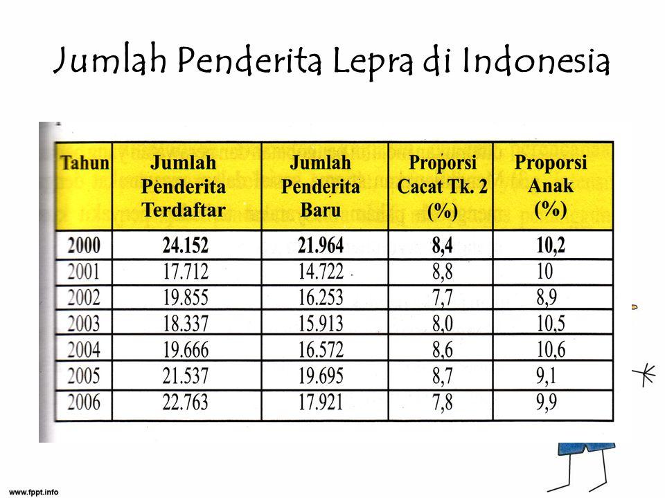 Jumlah Penderita Lepra di Indonesia