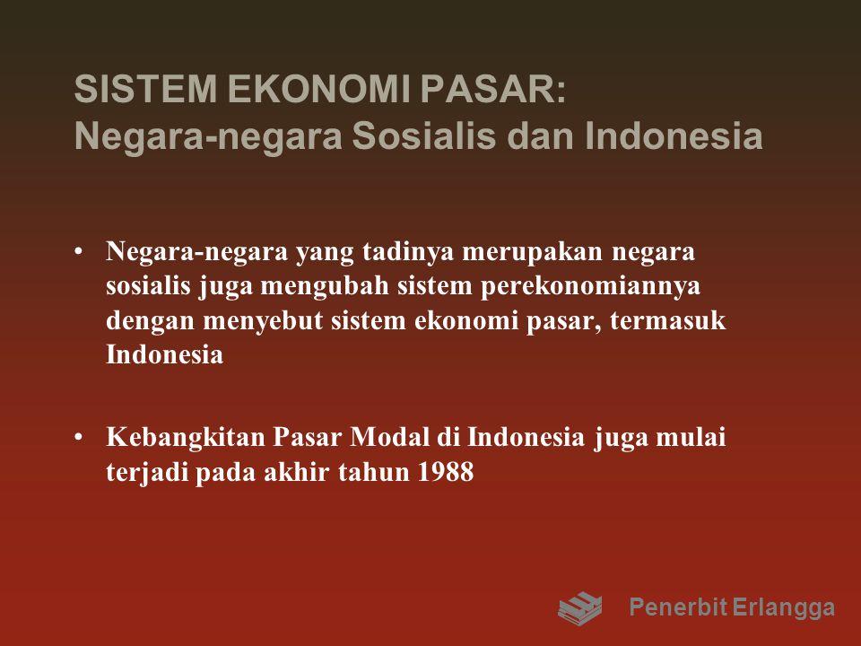 SISTEM EKONOMI PASAR: Negara-negara Sosialis dan Indonesia Negara-negara yang tadinya merupakan negara sosialis juga mengubah sistem perekonomiannya d