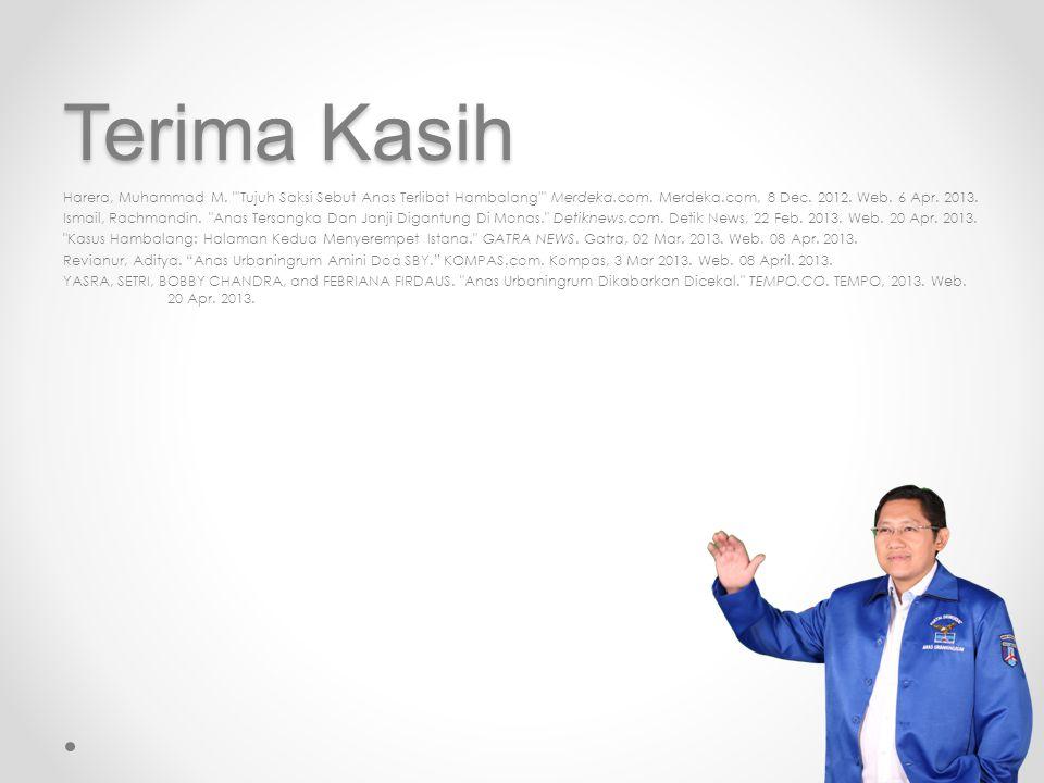 Terima Kasih Harera, Muhammad M. Tujuh Saksi Sebut Anas Terlibat Hambalang Merdeka.com.
