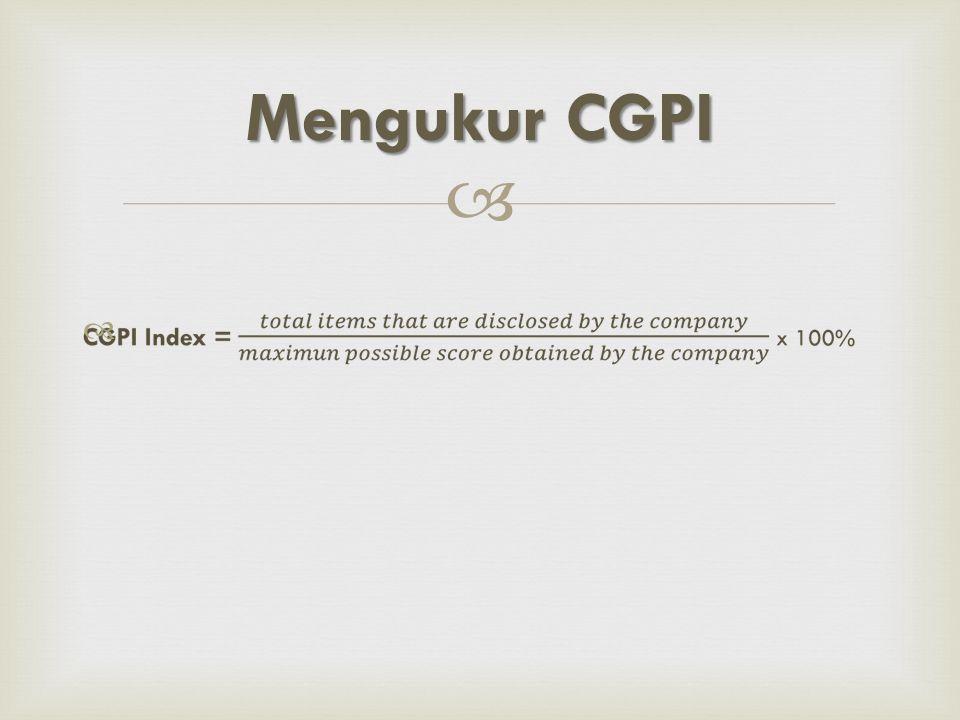   Mengukur CGPI