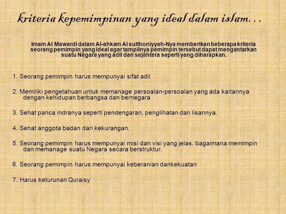 Prinsip-prinsip kepemimpinan Islam...