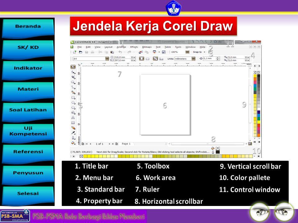 Jendela Kerja Corel Draw