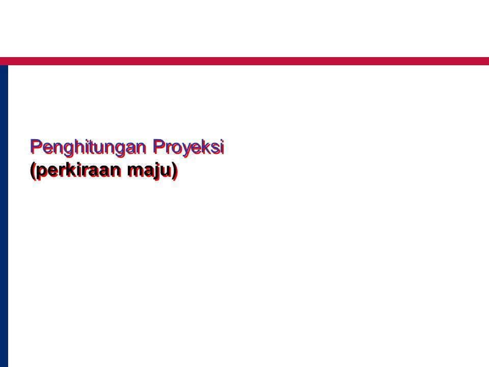 Penghitungan Proyeksi (perkiraan maju)