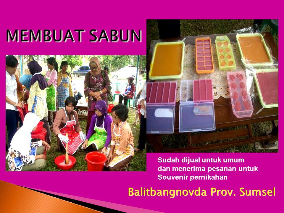 Balitbangnovda Prov. Sumsel Sudah dijual untuk umum dan menerima pesanan untuk Souvenir pernikahan