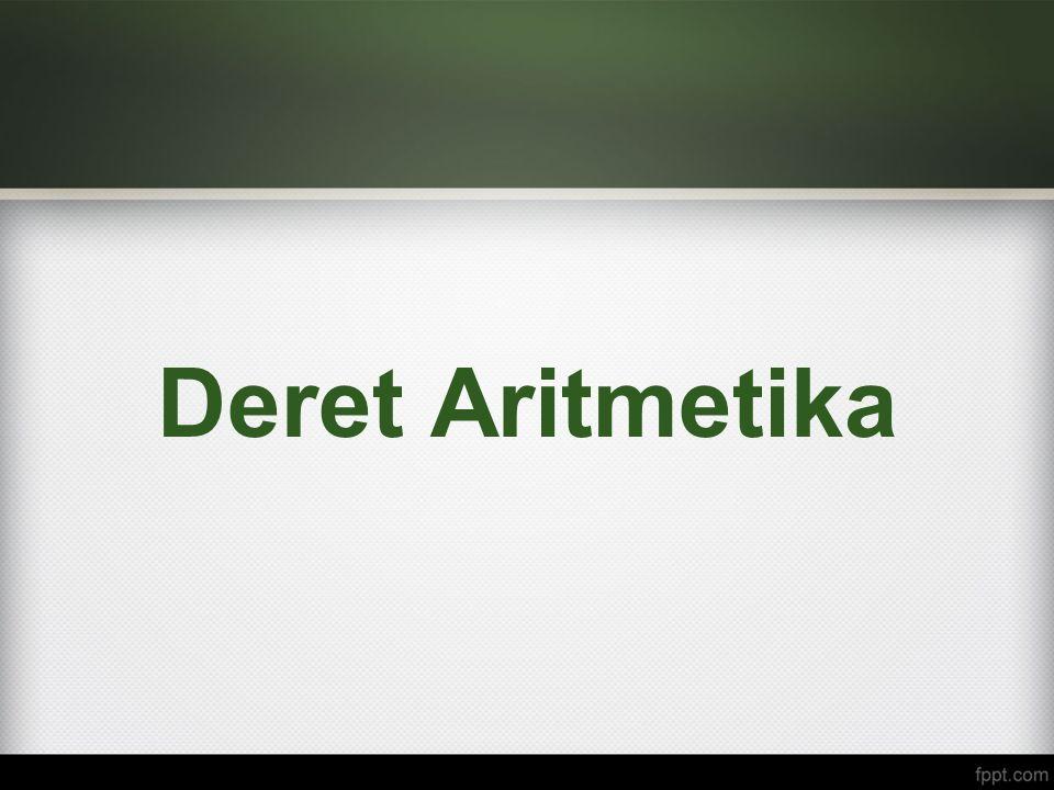 Deret Aritmetika