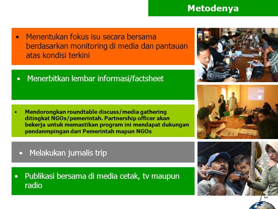 Siklus M3 Produksi di Media : Elektronik (1TV & 2Radio) - ILM (5-10 x /hari, Selama sebulan) - Ficer (1-4 x /bulan + 32 Radio Suporter) - Dialog (1x/bulan) - Berita (1- 3 /bulan) Cetak (2 Harian Lokal & @/Nas) - Lembar Informasi ( 1x/bulan) - Rubrik (4x /bulan) - Kolom (1- 3 /bulan)