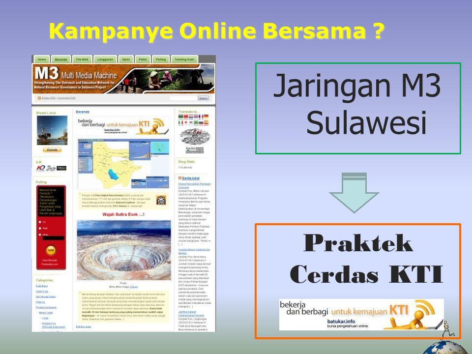 Harapan Adanya kerjasama yang saling melengkapi antara M3 & Jaringannya dengan batukar.info demi kemanjuan Sulawesi