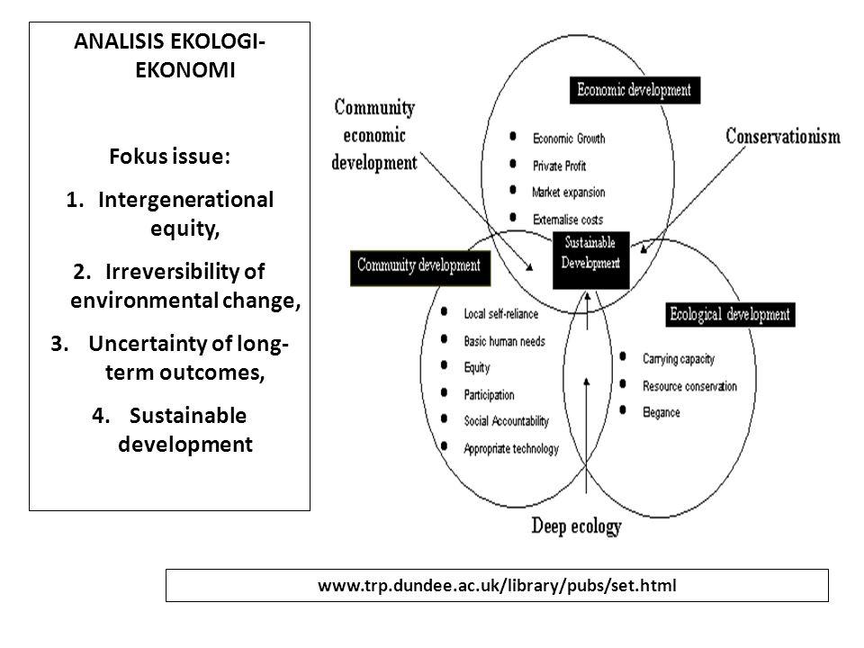 Pengelolaan Agrohutani Lestari: Yakni agrohutan yang sehat secara EKOLOGI serta produktif secara ekonomi.