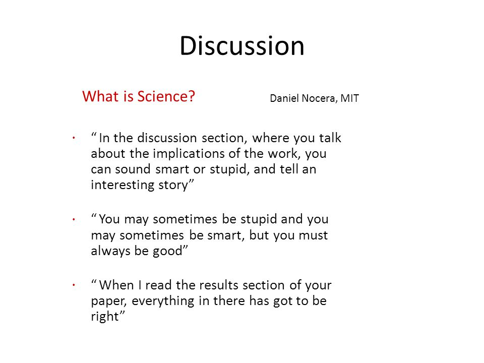 Discussion What is Science.