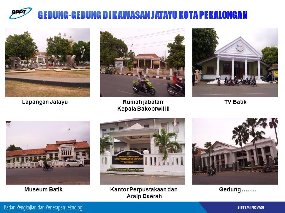 Lapangan JatayuRumah jabatan Kepala Bakoorwil III TV Batik Museum BatikKantor Perpustakaan dan Arsip Daerah Gedung ……..