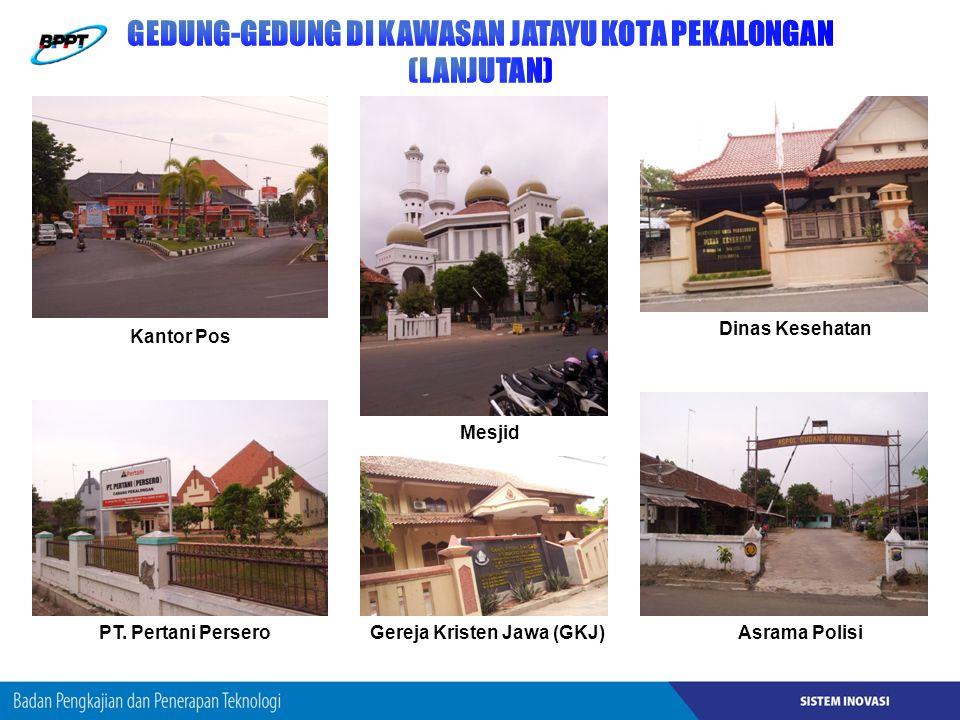 Kantor Pos PT. Pertani PerseroGereja Kristen Jawa (GKJ) Mesjid Asrama Polisi Dinas Kesehatan