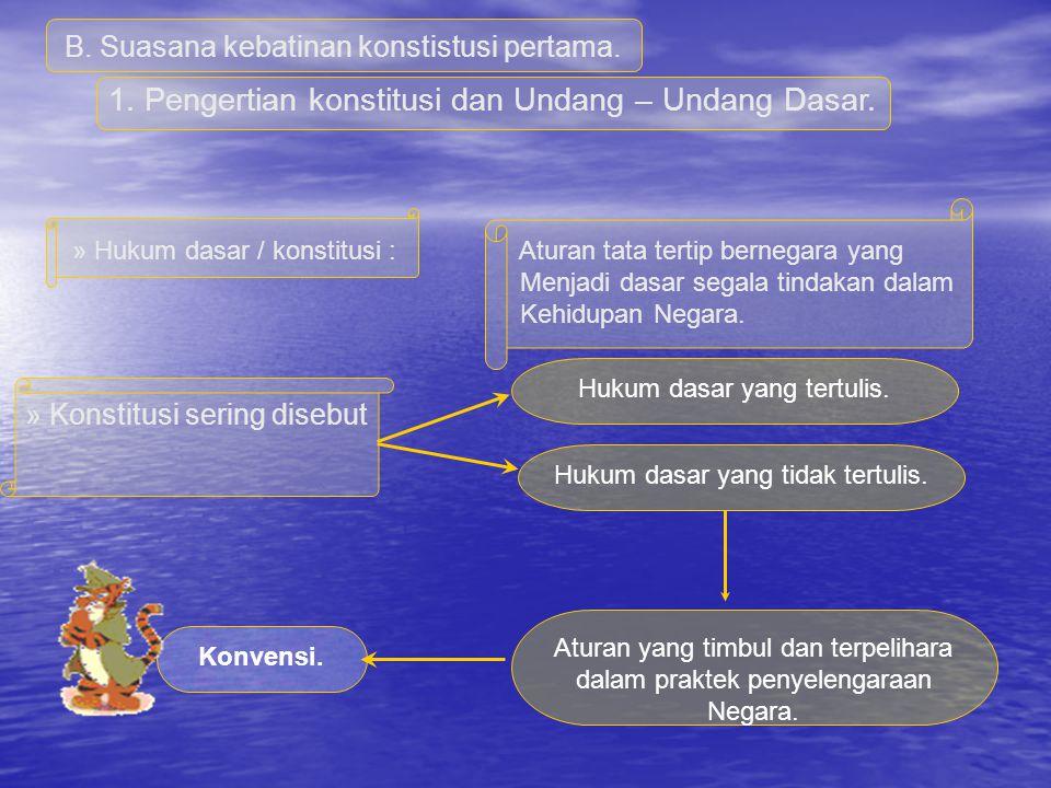 Menyatakan kepada dunia luar bangsa Indonesia telah Merdeka. Indonesia telah merdeka dan berdaulat Mempunyai Hak dan Kewajiban yang sama dengan bangsa