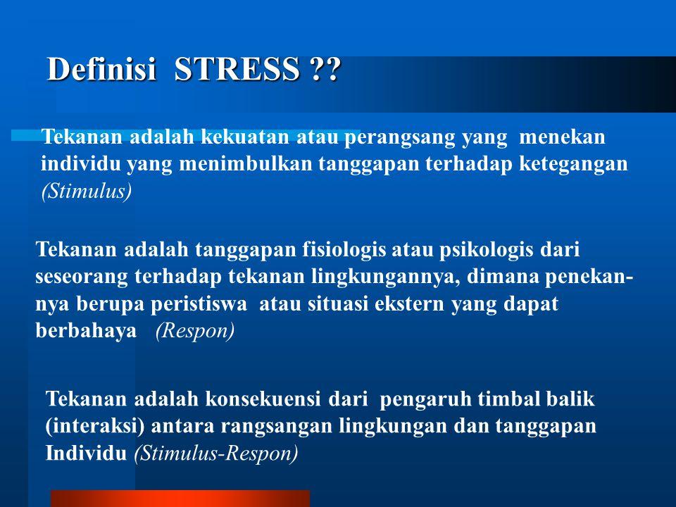 STRESS DALAM PEKERJAAN Pertemuan 10