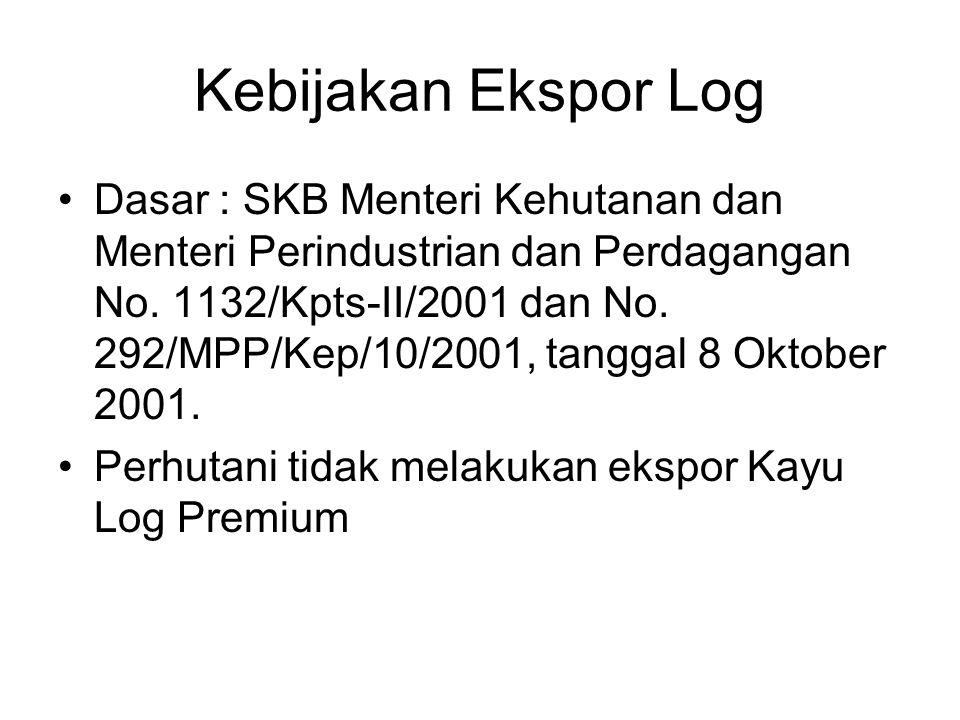 Kebijakan Ekspor Log Dasar : SKB Menteri Kehutanan dan Menteri Perindustrian dan Perdagangan No.