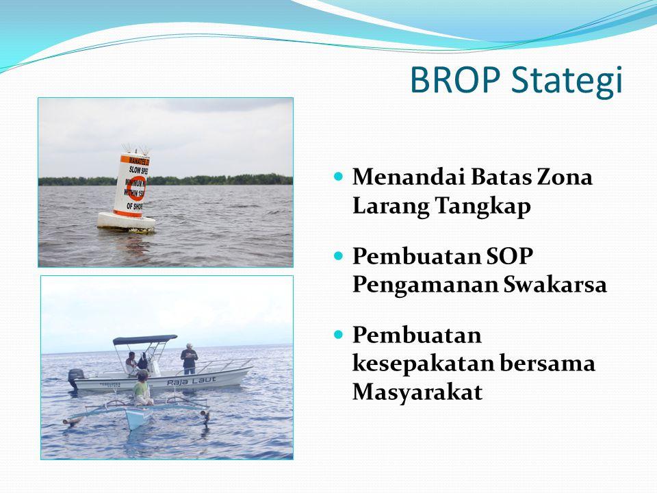 BROP Stategi Menandai Batas Zona Larang Tangkap Pembuatan SOP Pengamanan Swakarsa Pembuatan kesepakatan bersama Masyarakat