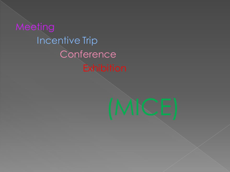 Meeting Incentive Trip Conference Exhibition (MICE)